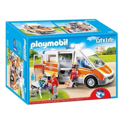 Image of Playmobil 6685 Ambulance med lys og sirene (4008789066855)
