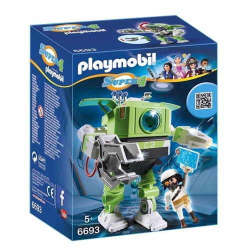 Image of Playmobil 6693 Super 4 Cleano Robot (4008789066930)