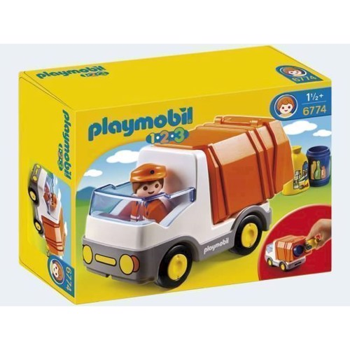 Image of Playmobil 1.2.3 6774 Skraldevogn (4008789067746)