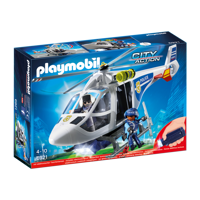 Playmobil 6921 Politihelikopter med LED lys