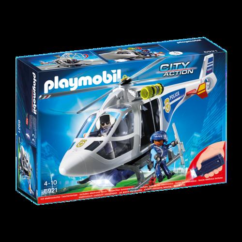 Image of Playmobil 6921 Politihelikopter Med Led Lys