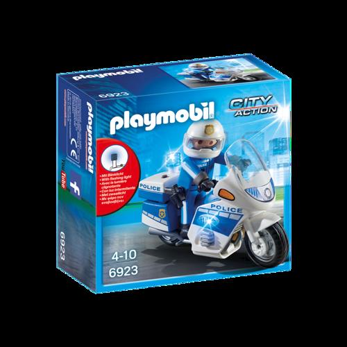 Image of Playmobil 6923 Politi motorcykel med LED lys.