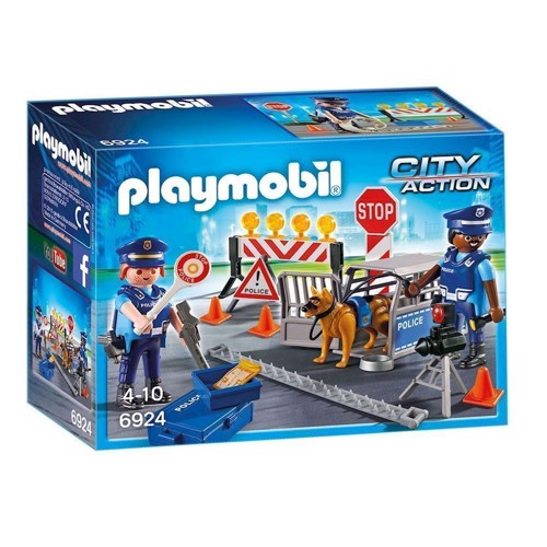 Image of Playmobil 6924 Politi Vejspærring
