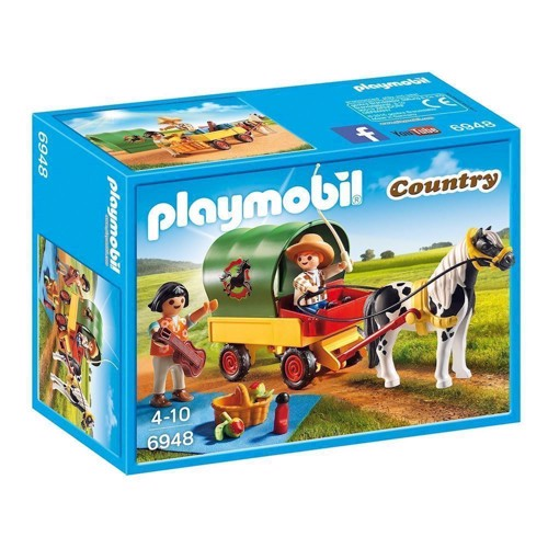 Image of Playmobil 6948 picnic with Pony Car (4008789069481)
