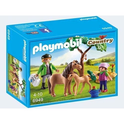 Image of Playmobil 6949 veterinarian with ponies (4008789069498)