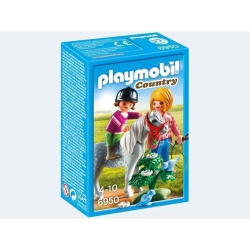 Image of Playmobil 6950 pony rides with mom (4008789069504)