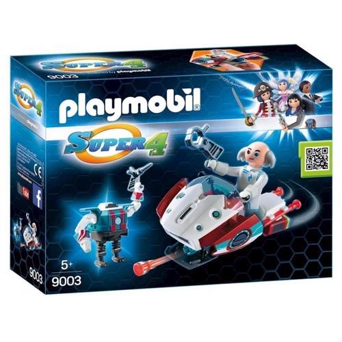 Image of Playmobil 9003 Super 4 Skyjet med Dr. X og Robot (4008789090034)