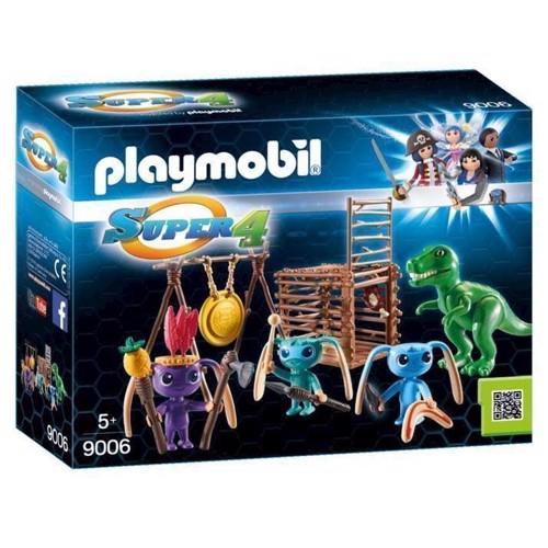 Image of Playmobil 9006 Super 4 rumvæsen kriger med T-Rex (4008789090065)