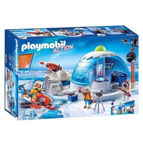 Image of Playmobil 9055 Action poler ekspeditionens hovedkvarter (4008789090553)