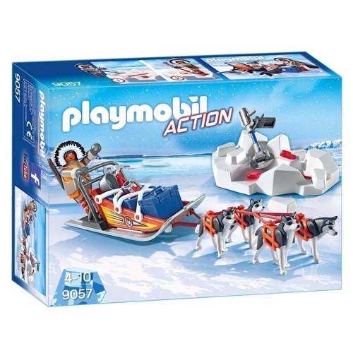 Image of Playmobil 9057 Action hundeslæde med tilbehør (4008789090577)