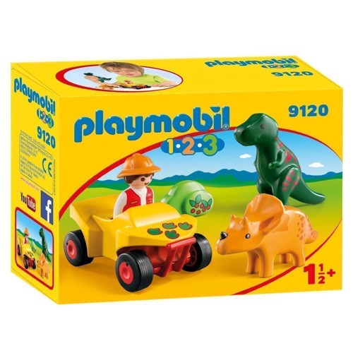 Image of Playmobil 9120 Dino researcher with Quad (4008789091208)