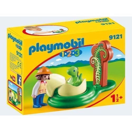 Image of Playmobil 9121 Researcher with Baby Dino (4008789091215)