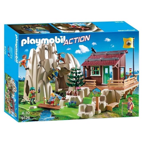 Image of Playmobil 9126 with Mountaineers hut (4008789091260)