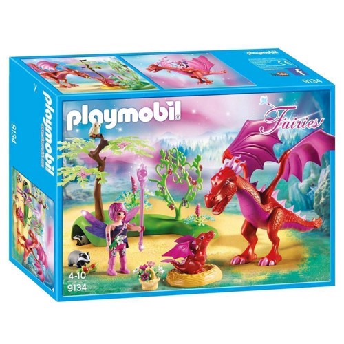 Image of Playmobil 9134 Dragons guardian with red Dragons (4008789091345)