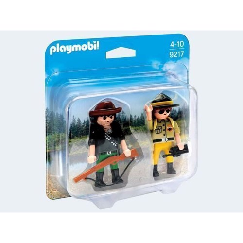 Image of Playmobil 9217 Duopack Ranger and Poacher (4008789092175)