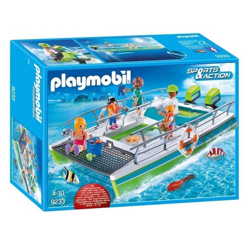 Image of Playmobil 9233 Glass Boat with Underwater Engine (4008789092335)