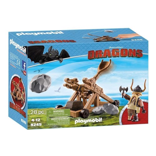 Image of Playmobil Dragons 9245 Schrokal med Katapult (4008789092458)