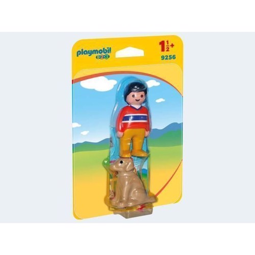 Image of Playmobil 9256 Man with Dog (4008789092564)