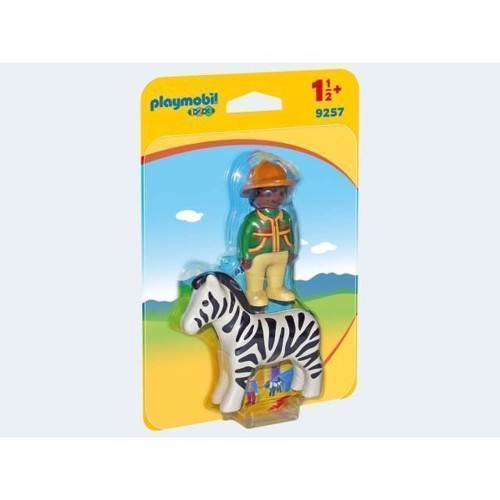 Image of Playmobil 9257 Carer With Zebra