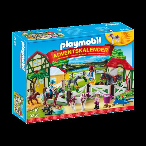 Image of Playmobil Julekalender, Ridecenter ( 9262 ) (4008789092625)