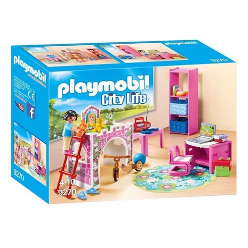 Image of Playmobil 9270 børneværelse med højseng (4008789092700)