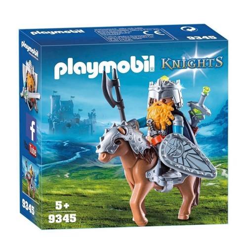 Image of Playmobil 9345 dværg med kamppony (4008789093455)