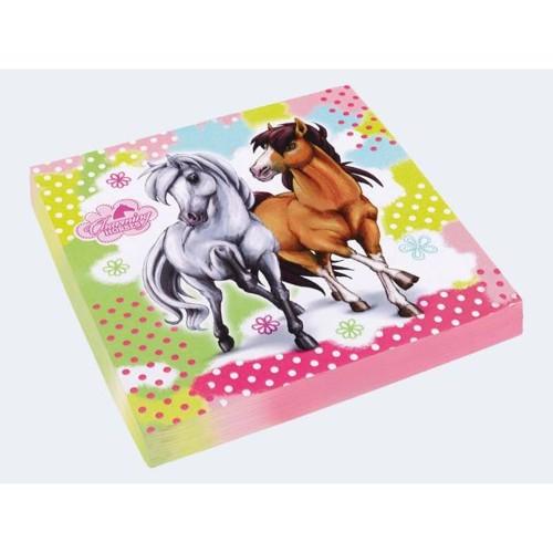 Image of   20 Servietter Charming Horses 2