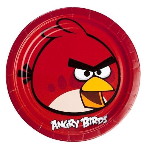 Image of   Angry Birds tallerkner 8 stk