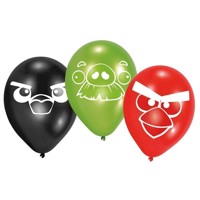 Angry Birds balonner, 5 stk