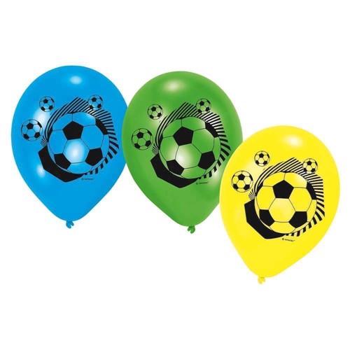 Image of   Fodbold balonner, 6 stk