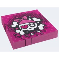 20 napkins Pink Pirate