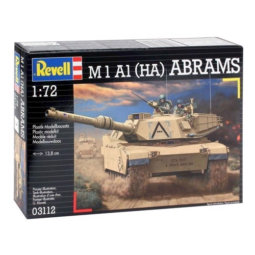 Image of   Revell Byggesæt M1A1 Abrams Tank