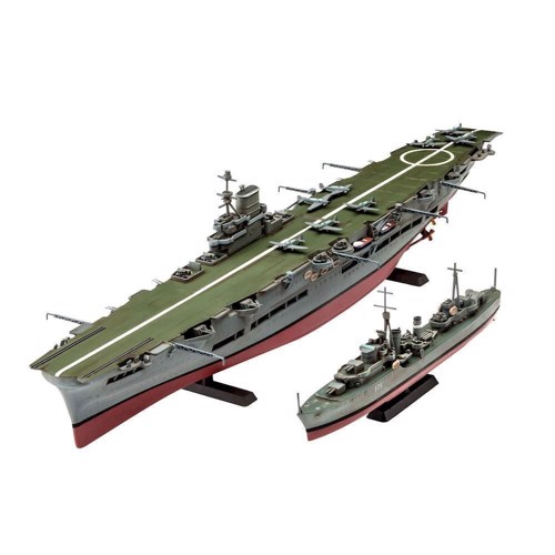 Image of   Revell Byggesæt HMS Ark Royal &Tribal Class Destoyer