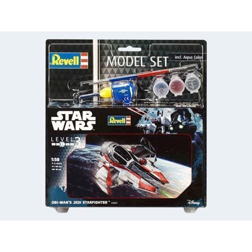 Image of   Model Sæt Star Wars Obi Wans Jedi Starfighter