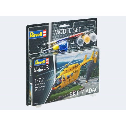 Image of   Model Set Helicopter BK-117 ADAC 1:72