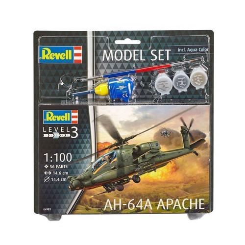 Image of Revell Byggesæt - AH-64A Apache (4009803649856)