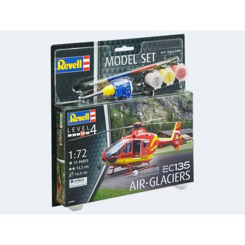Image of   Model Set Helicopter EC-135 Air Glaciers 1:72