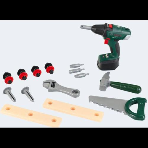 Image of   BOSCH værktøjskasse + skruemaskine 16 dele