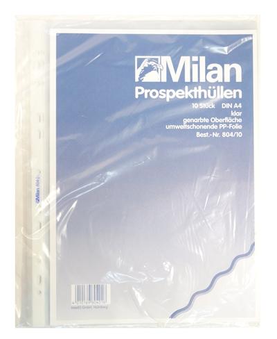 Image of   Milan 10 plastlommer A4 804 PP