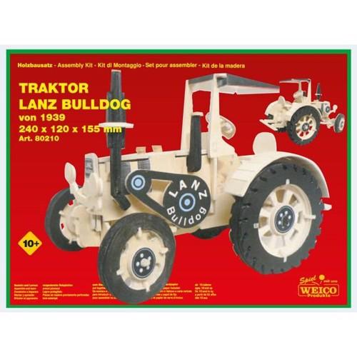 Image of   Byggesæt i træ, Traktor Lanz Bulldog Maxi 24cm