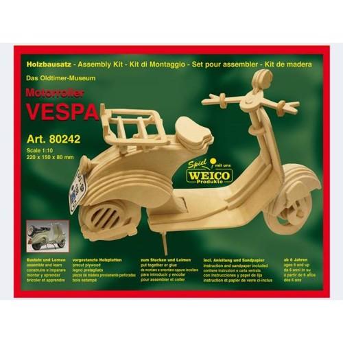 Image of   Byggesæt i træ, scooter Vespa 22cm