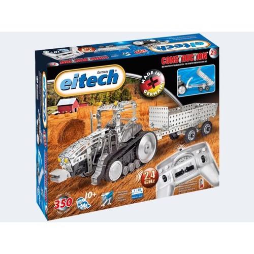 Image of   Eitech RC fjernstyret traktor med trailer
