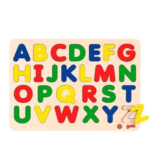 Image of   Alfabet puslespil i træ