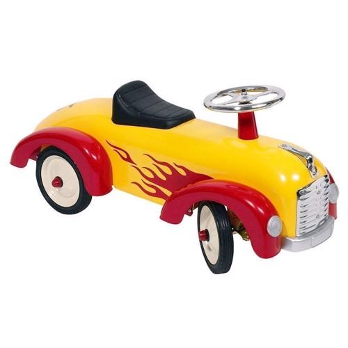 Gul gåbil med flammer