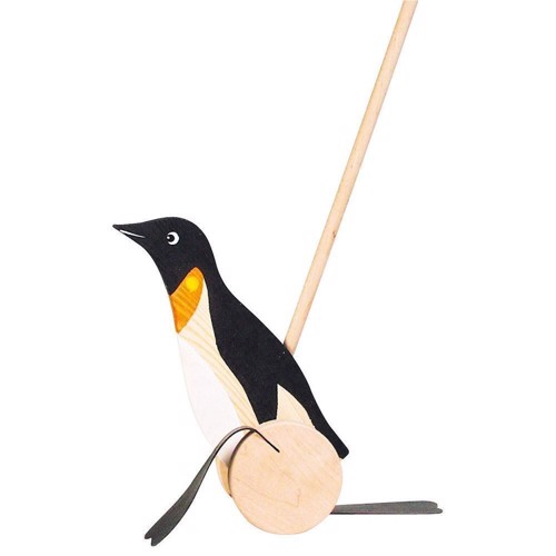 Image of   Wooden Duwfiguur Penguin