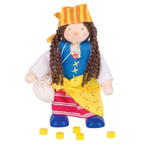 Image of   Dukkehus, dukke, pirat, pige