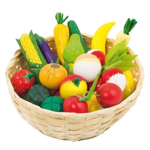 Image of Frugt og grøntsager i kurv, 23 dele (4013594516600)