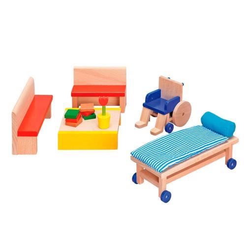 Image of   Hospital venteværelsesmøbler til dukkehus