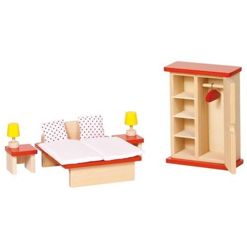 Sove værelses møbler til dukkehus