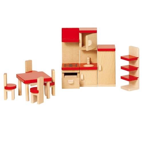 Køkken møbler til dukkehus